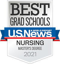 US News & World Report 2021 Best Grad Schools MSN program badge