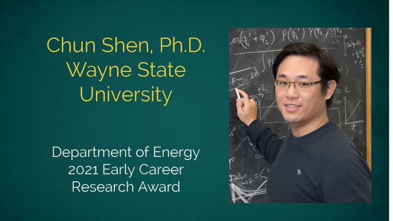 Dr. Chun Shen, assistant professor, Department of Physics and Astronomy