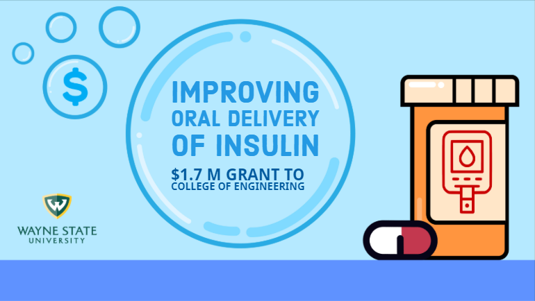 Wayne State's College of Engineering aims to improve oral delivery of insulin to improve treatment of diabetes