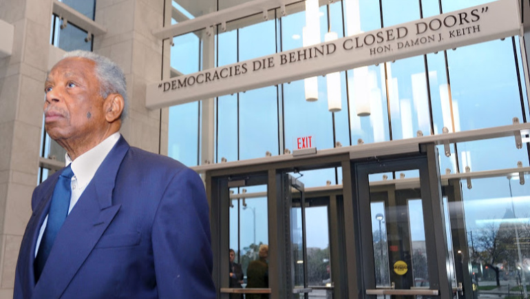 Judge Damon J. Keith in the Keith Center