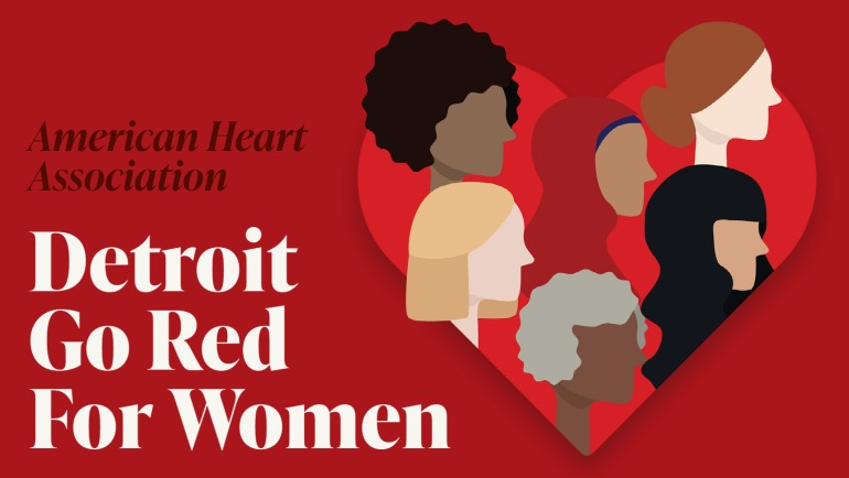 Alexis Wright, a Wayne State University design student, created the 2021 Go Red campaign graphic for the American Heart Association.