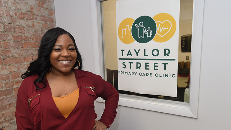 Photo of Dominique Whitfield, Taylor St Primary Care Clinic front office coordinator