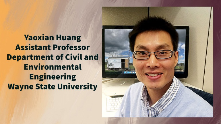 Yaoxian Huang, assistant professor of civil and environmental engineering in the College of Engineering, received funding of two grants from the National Science Foundation that will help protect the air we breathe and other aspects of our environment.