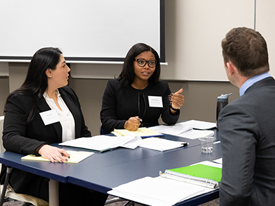 Wayne Law students compete in the 2019 Jaffe Transactional Law Competition.