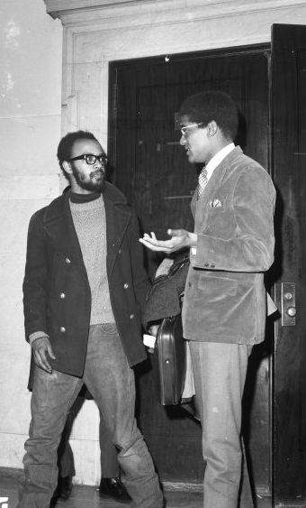 John Watson and Kenneth Cockrel in a 1969 photo from the Walter P. Reuther Library archives