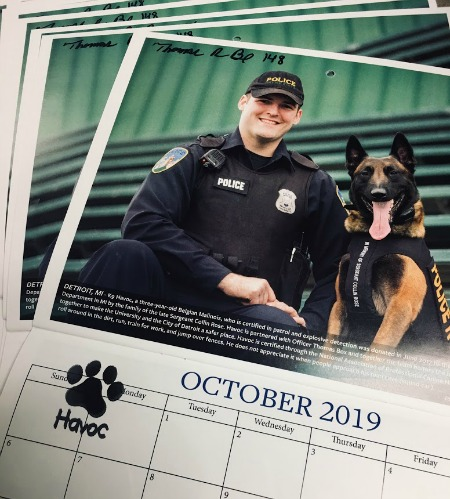 calendar police man and dog