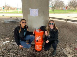 Medical students Lianna Foster-Bey of Wayne State and Ellie Small of Michigan State were among the students who collaborated on the project.