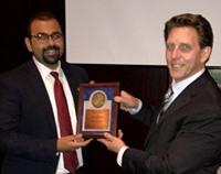 Radiation Oncology resident Dr  Mark Zaki receives Roentgen