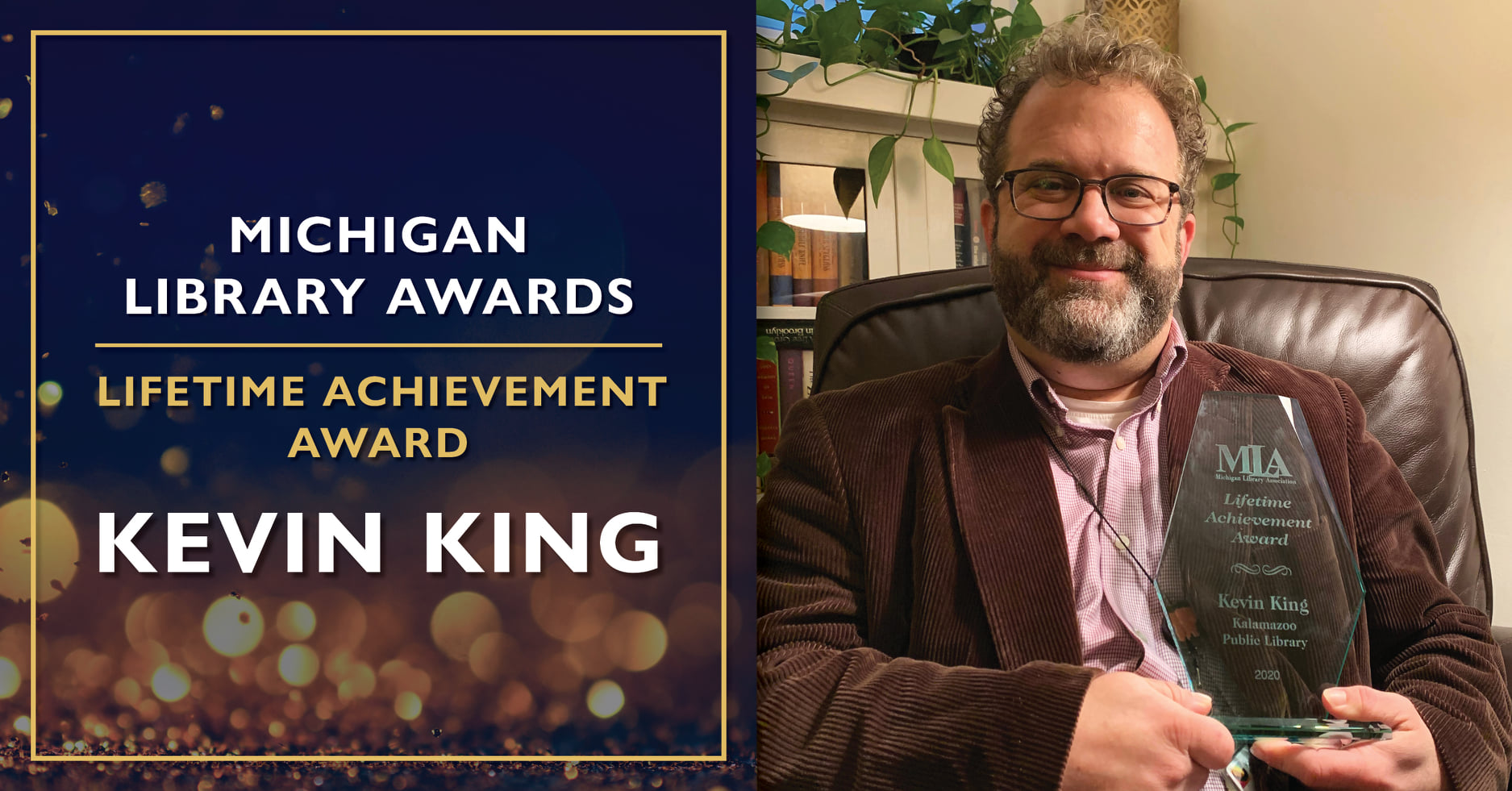 SIS alumnus Kevin King receives the Michigan Library Association's Lifetime Achievement Award