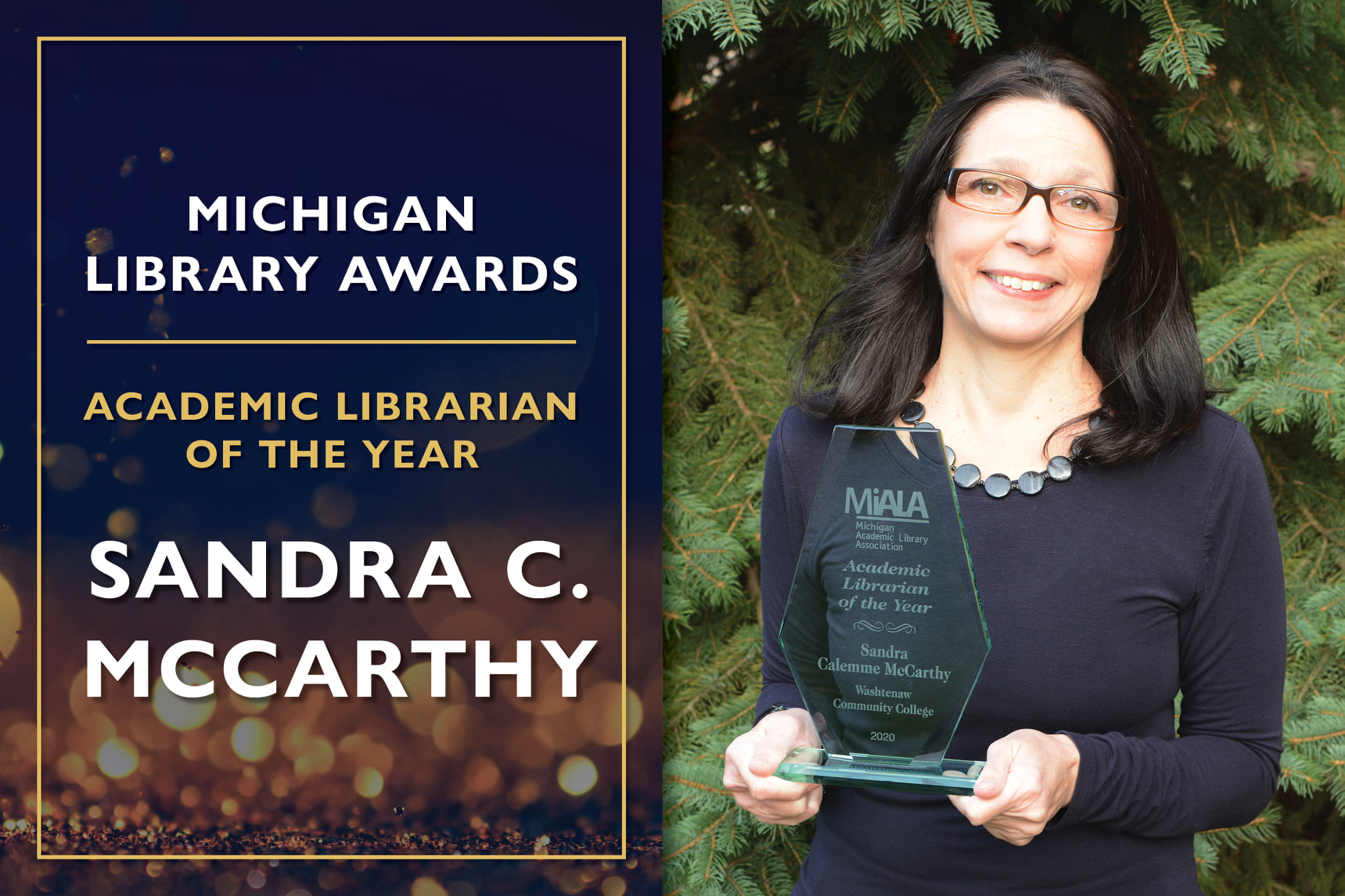 SIS Alumna Sandra McCarthy receives the Michigan Library Association's Academic Librarian of the Year Award