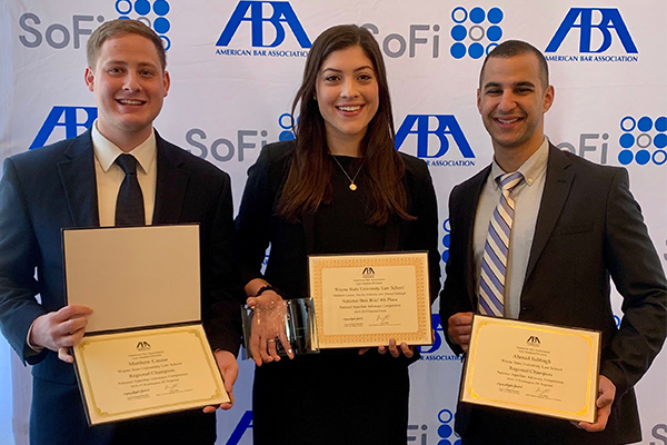 Matthew Cassar, Haley Johnson and Ahmad Sabbagh