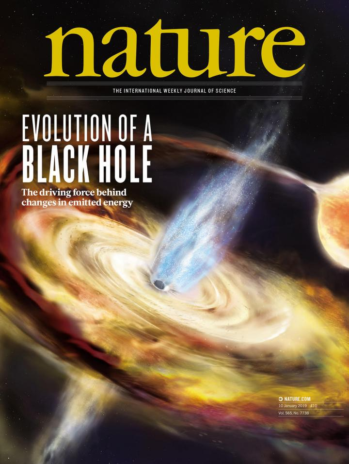 Nature magazine: Evolution of a Black Hole