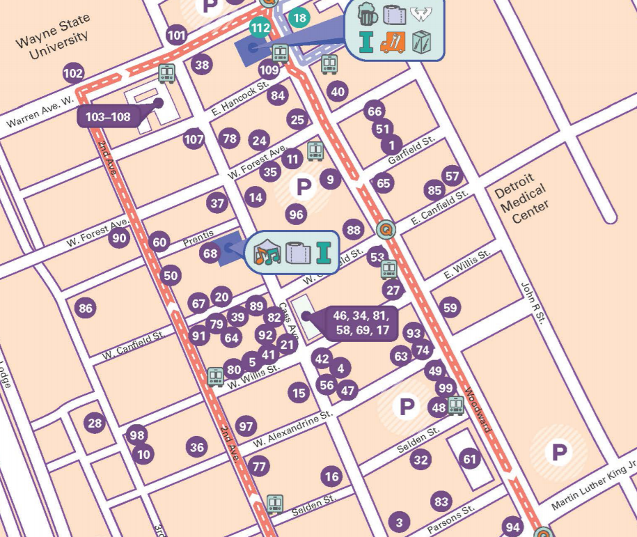 2018 Noel Night Map