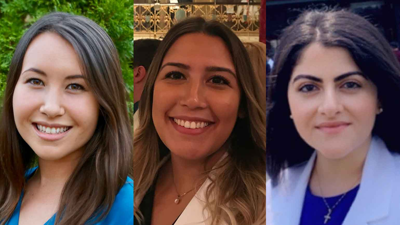 Abigail Kumagai, Marla Rojas Thaureaux and Renieh Nabaty