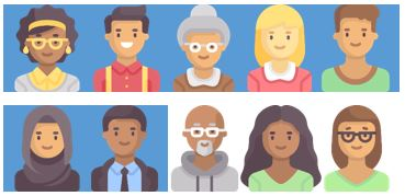 10 people pictured, 7 of the 10 pictures are shaded in, indicated 7 out of 10 survey respondents who were individuals with a disability or family member of an individual with a disability