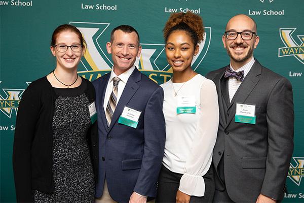 Wayne Law students at the Scholarship Reception