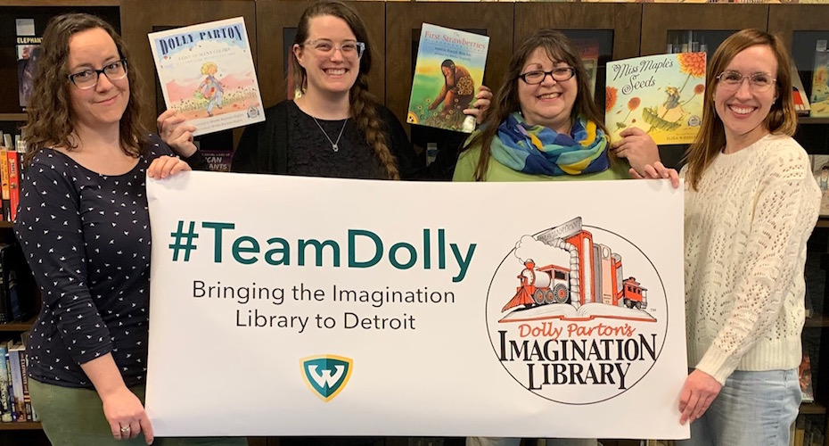 WSU Library System's Team Dolly poses for a photo.