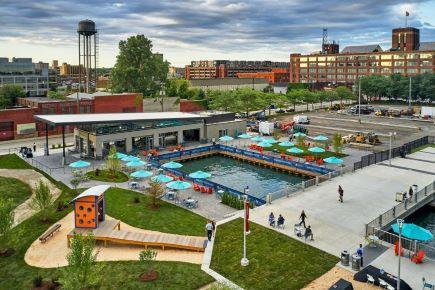 Robert C. Valade Park. Photo courtesy of the Detroit Riverfront Conservancy.