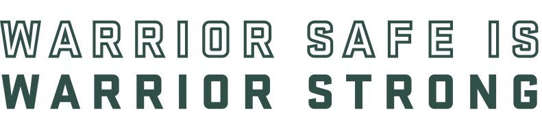 Warrior Safe is Warrior Strong logo