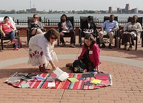 Kate Baker at Detroit Equity Lab Cohort Retreat