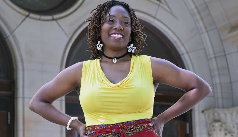 Billicia Hines, assistant professor and director of the WSU Black Theatre and Dance Collective