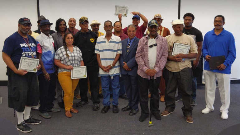 Participants in WSU Veterans Upward Bound program celebrate completion